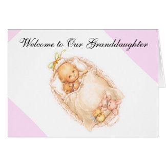 BIRTH OF GRANDDAUGHTER GREETING CARD