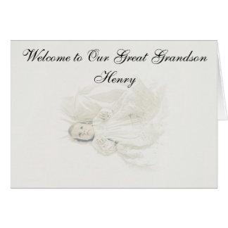 BIRTH OF GREAT GRANDSON GREETING CARD