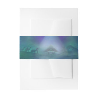 birth of Jesus Belly Bands Invitation Belly Band