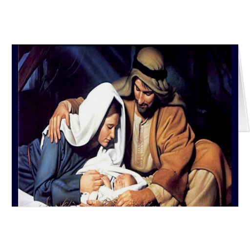 Birth of Jesus Christmas card