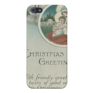 Birth of Jesus Christmas Greetings iPhone 5/5S Case