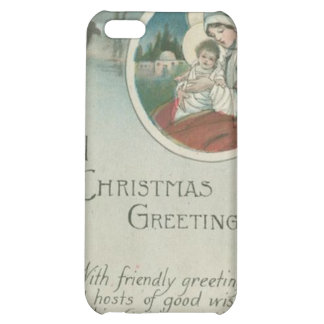 Birth of Jesus Christmas Greetings iPhone 5C Covers