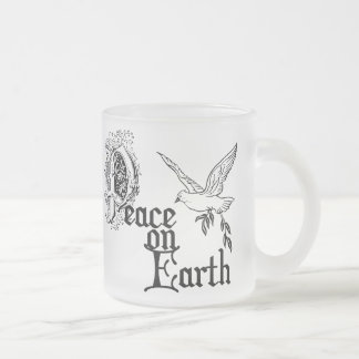 Birth of Jesus Frosted Glass Mug