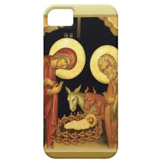 Birth of Jesus stable scene iPhone 5 Covers