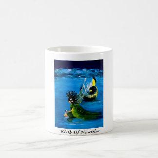 """BIRTH OF NAUTILUS"" 11 oz. WHIMSICAL FAIRY COFFEE Basic White Mug"