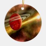 Birth of Saturn Round Ceramic Decoration