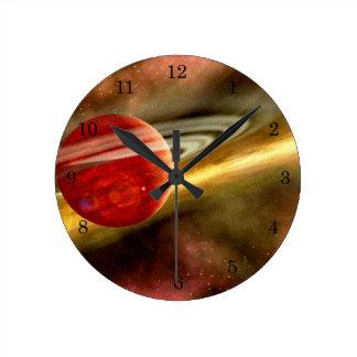 Birth of Saturn Round Clock