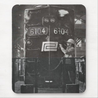 Birth of The Penn Central Railroad Train System Mouse Pad