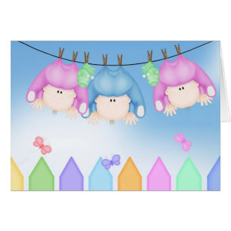 Birth of Triplets Card