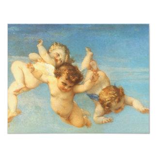 Birth of Venus, Angels detail by Cabanel 11 Cm X 14 Cm Invitation Card