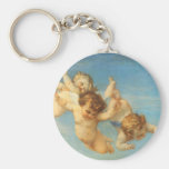 Birth of Venus, Angels detail by Cabanel Basic Round Button Key Ring