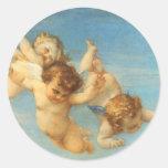 Birth of Venus, Angels detail by Cabanel Classic Round Sticker
