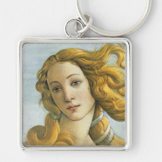 Birth of Venus Botticelli Fine Art Silver-Colored Square Key Ring