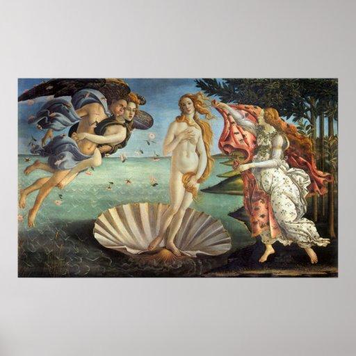 Birth of Venus by Botticelli, Renaissance Art Posters