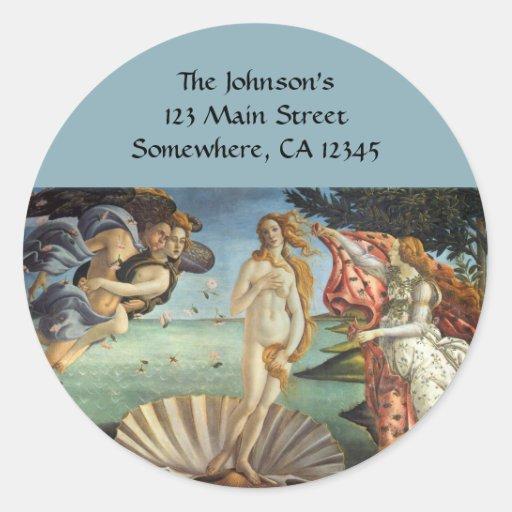 Birth of Venus by Botticelli, Renaissance Art Stickers