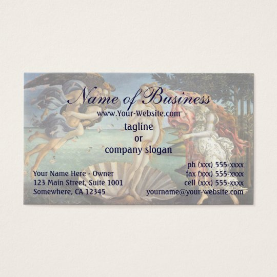 Birth of Venus by Sandro Botticelli Business Card