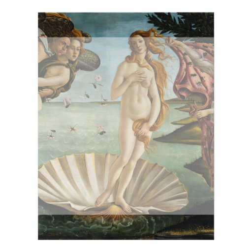Birth of Venus by Sandro Botticelli Full Color Flyer