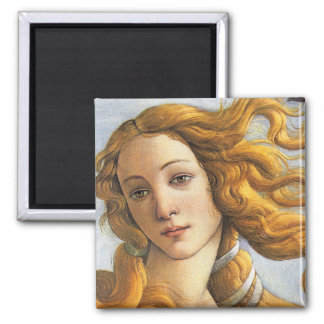 Birth of Venus detail, Botticelli Square Magnet