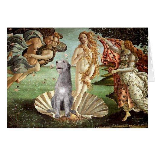Birth of Venus-Irish Wolfhound #6 Greeting Card