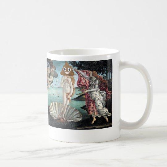 Birth of Venus with Happy Poop Coffee Mug