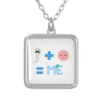Birth Process Charm with Chain Silver Plated Necklace