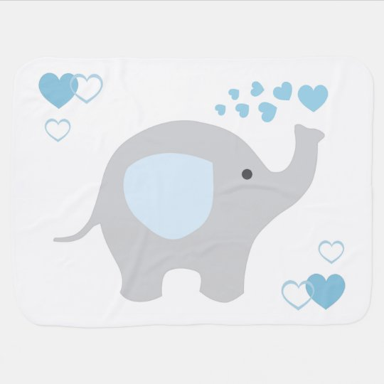 Birth Stats Baby Boy Elephant Nursery Blue Grey
