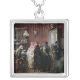 Birth, Town Hall Silver Plated Necklace