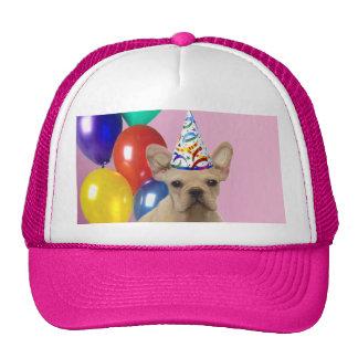 Birthay French Bulldog Mesh Hats