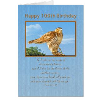 Birthday, 100th, Rough-legged Hawk Card