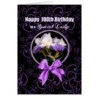 Birthday - 100th - Special Lady - Purple Iris Card