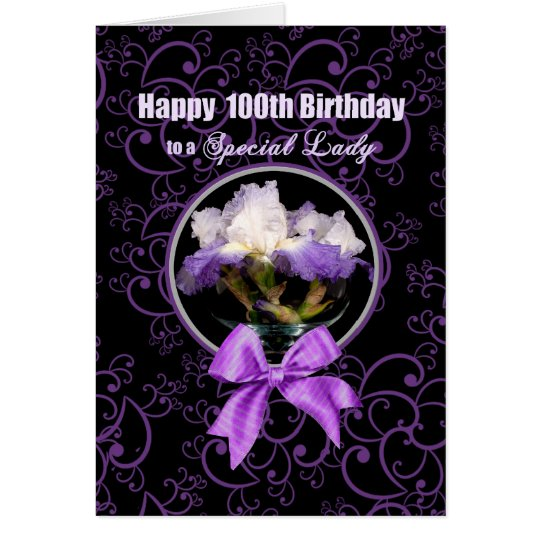 Birthday - 100th - Special Lady - Purple