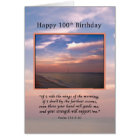 Birthday, 100th, Sunrise at the Beach, Religious Card