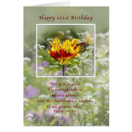 Birthday, 101st, Religious, Butterfly Greeting Cards