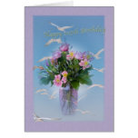 Birthday, 105th, Flowers and Birds Greeting Card