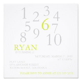 Birthday 13 Cm X 13 Cm Square Invitation Card