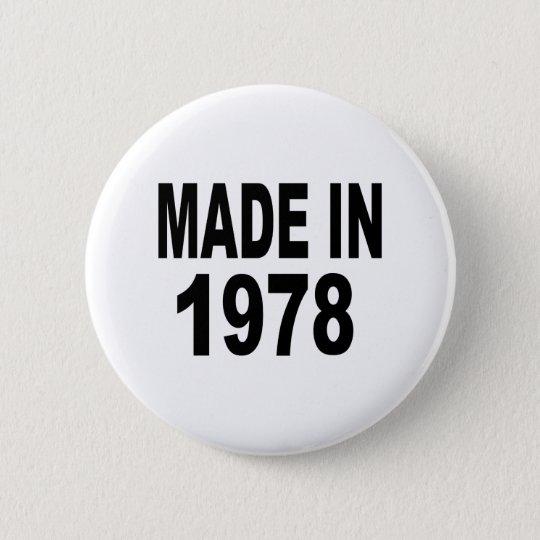 Birthday 1978 6 cm round badge