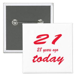 birthday 49 15 cm square badge
