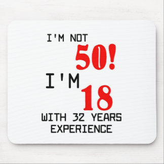 Birthday 50th mouse pad