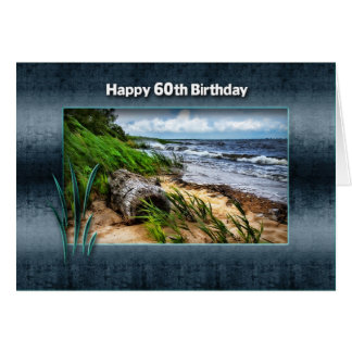 BIRTHDAY - 60TH -  Driftwood Card