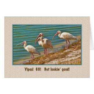 Birthday, 68th, Ibis Birds Greeting Card