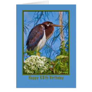 Birthday, 68th, Tricolored Heron in a Tree Card