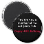 birthday 6 cm round magnet