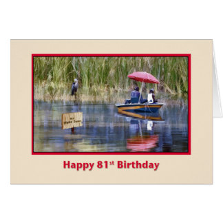 Birthday, 81st, Two Fishermen at the Lake Cards