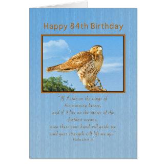 Birthday, 84th,  Rough-legged Hawk Card