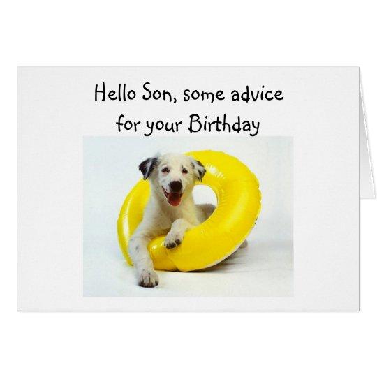 """BIRTHDAY ADVICE """"SON'S"""" BIRTHDAY CARD"""