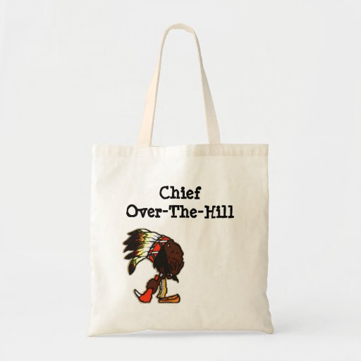 Birthday Age OTH Gag Gift Tote Bag Indian Chief