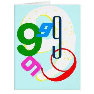 Birthday ages 1 thru 9 big greeting card