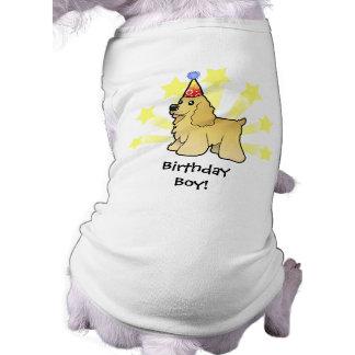 Birthday American Cocker Spaniel Sleeveless Dog Shirt