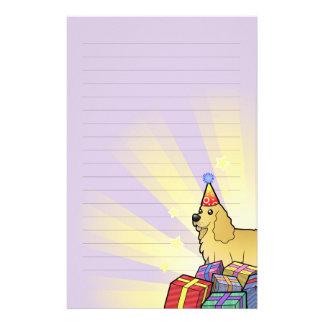 Birthday American Cocker Spaniel Personalized Stationery
