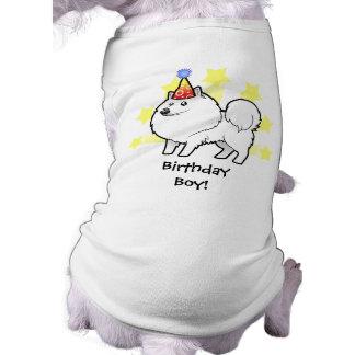 Birthday American Eskimo Dog / German Spitz Sleeveless Dog Shirt